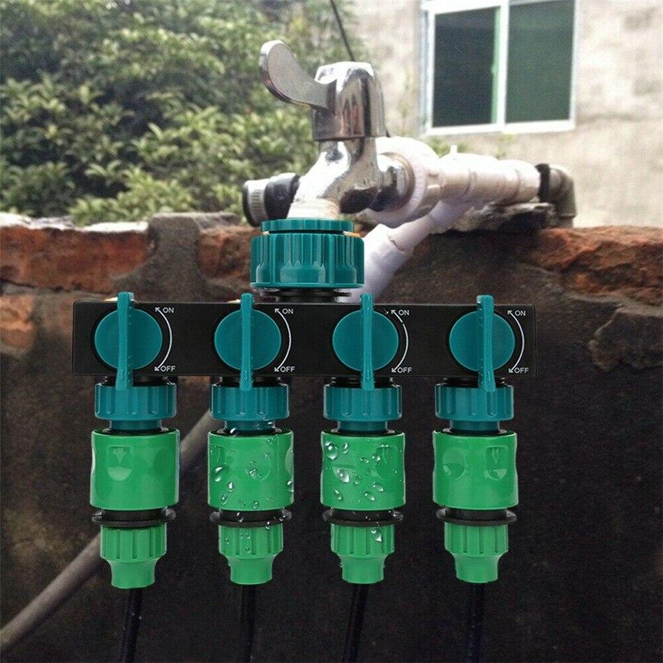 VOGVIGO Garten Bewässerung Tap Wasser Splitter 4-Wegehahn Schlauch Splitter Stecker Bewässerung Set