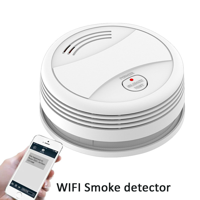 Smoke Detector Tuya App Wifi Phone Push Fire Protection Sensor Independent Smoke Alarm Fire Alarm Wifi Rookmelder Wifi Wireless