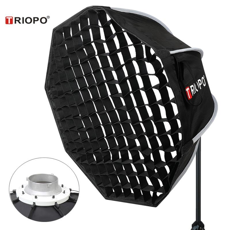 Triopo 65 см фото Bowens крепление софтбокс с сотовой сеткой Портативный Открытый восьмиугольный зонтик Мягкая коробка для видеостудии Godox Софтбоксы      АлиЭкспресс