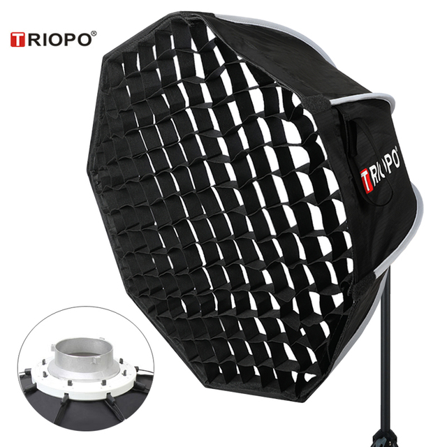 Triopo 65cm תמונה Bowens הר Softbox w/כוורת רשת נייד חיצוני מתומן מטרייה רך תיבת עבור וידאו סטודיו godox