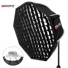 Triopo 65cm Photo Bowens Mount Softbox w/ Honeycomb Grid Portable Outdoor Octagon Umbrella Soft Box for Video Studio Godox