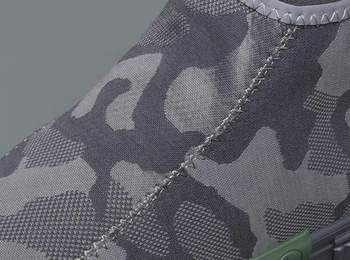 British Fashion Men Boots Breathable Non slip Casual Shoes Slip On Camouflage Pattern Side Zipper
