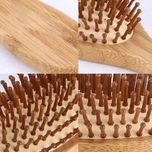 Image 5 - גבוהה באיכות שיער מסרק במבוק כרית אוויר עיסוי מסרק מפוחם עץ מלא במבוק כרית אנטי סטטי שיער מברשת קומבס נסיעות