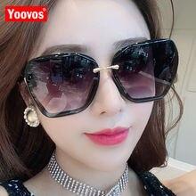 Yoovos 2020 Oversized Sunglasses Women Retro Luxury