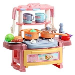Мальчики и девочки головоломка Моделирование кухня дети играть дом игрушки приготовления пищи посуда набор кухонных игрушек