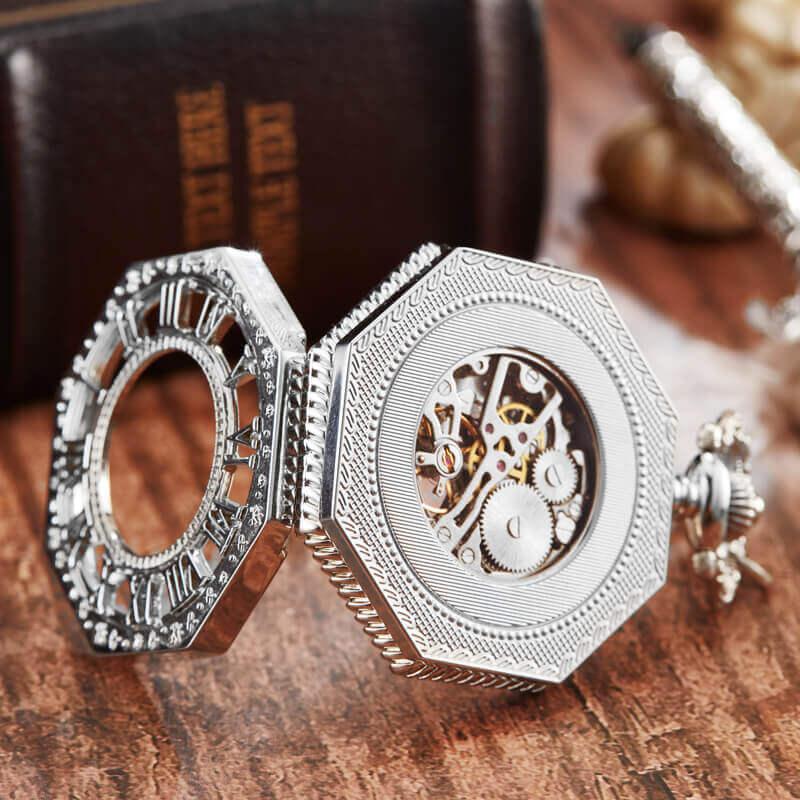 masculino numeral romano mão-enrolamento fob relógio steampunk