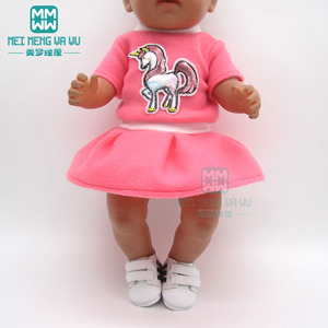 Image 4 - Accessories for doll fit 43 cm toy new born doll baby fashion Cartoon plush backpack