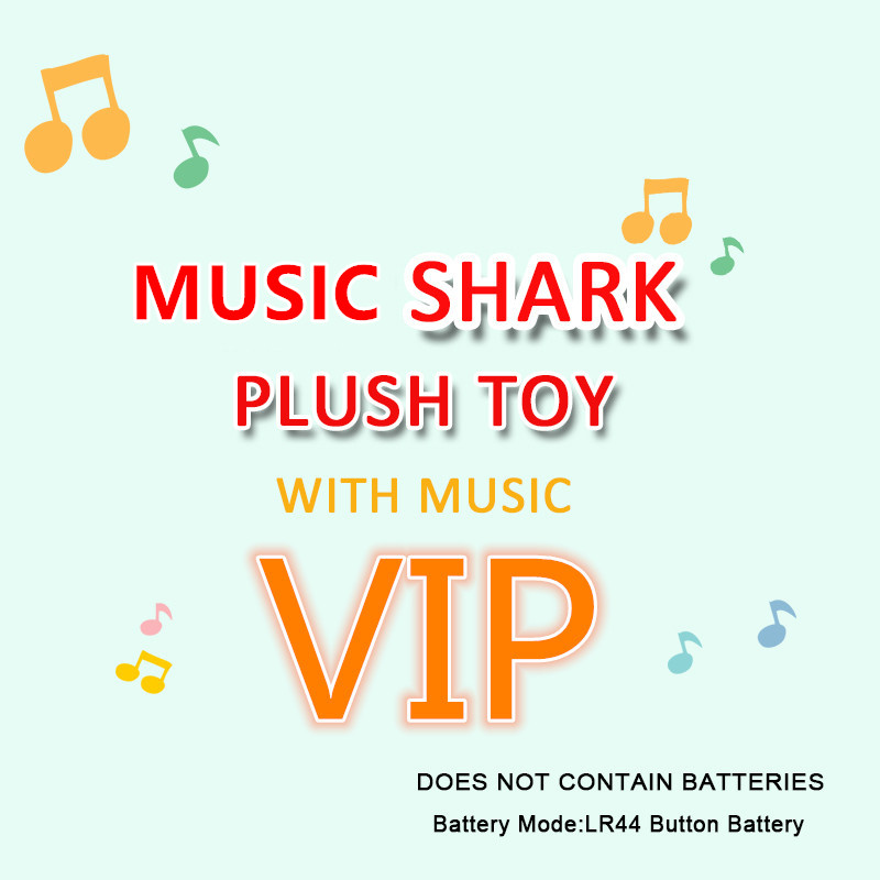 Stuffed&Plush Animals Music Shark Plush Toys Sound Soft Baby Cartoon Shark Singing English Song Gifts For Kids