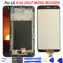 For LG K10 2017 M250N X400 LCD display with Touch Screen Digitizer frame M250 M250DS LCD for LG K10 2017 K20 Plus Display screen смартфон lg k10 2017 m250 gold