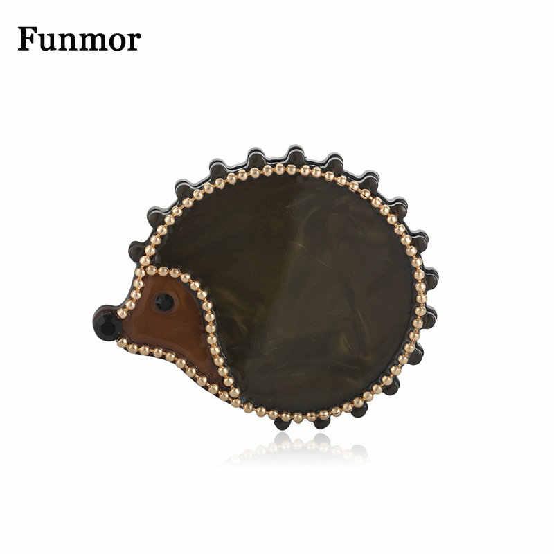 Funmor Kawaii Hedgehog เข็มกลัดลูกปัดตกแต่งอะคริลิค Pins สัตว์เครื่องประดับสาวประจำวันอุปกรณ์เสริม Coat Bijoux