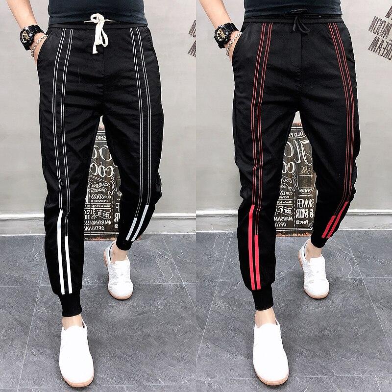 2019 Men Joggers Trousers Harem Pants Patchwork Casual Pencil Pant Sweatpants Streetwear Pantalon Homme Mens Hip Hop Cotton Pant