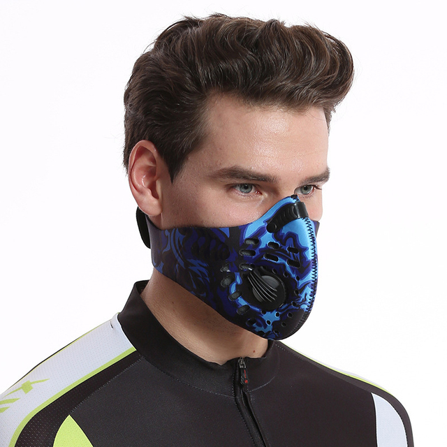 Activated Carbon Dust-proof Cycling Face Mask Men Women Anti-Pollution training Bicycle Bike Outdoor Running mask face shield 1