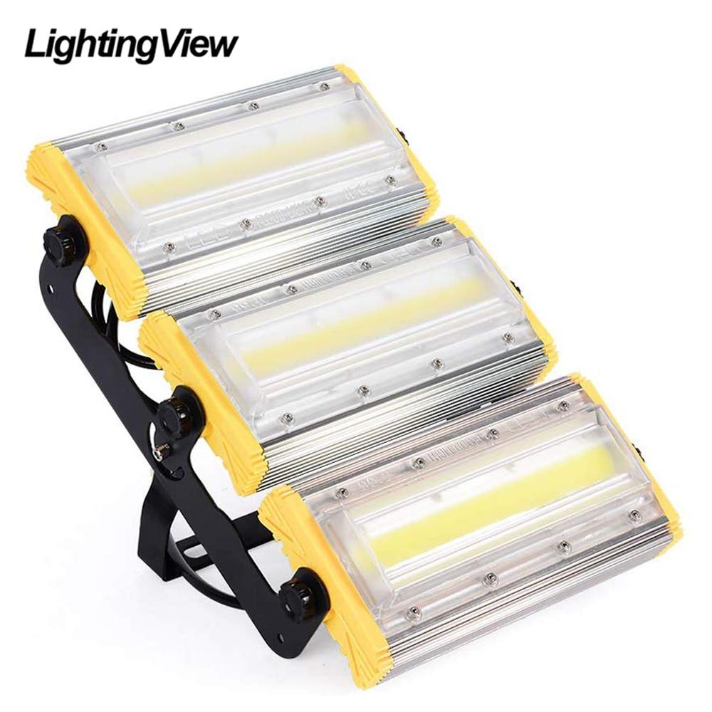 50 w 100 150 led holofote ao ar livre cob luz de inundação projetor refletor lâmpada à prova dwaterproof água spotlight construção iluminação da lâmpada