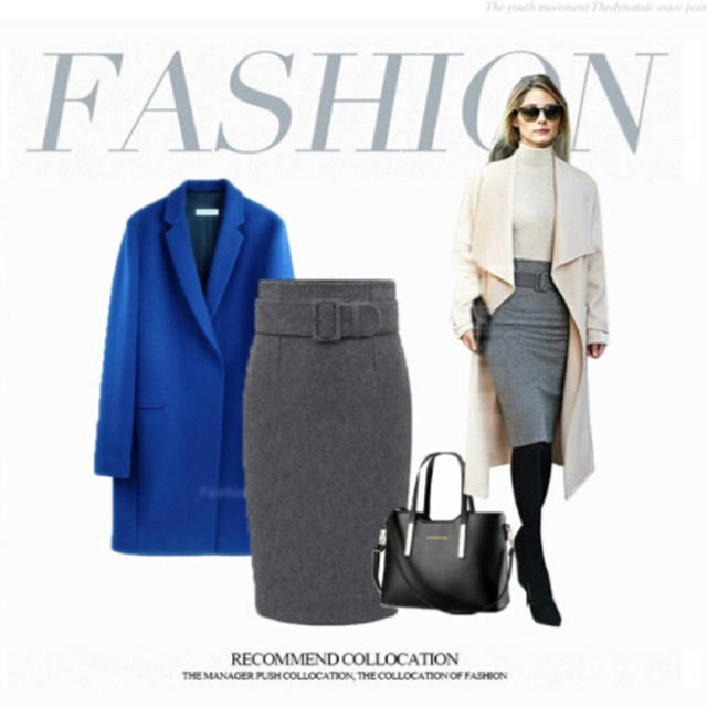Pencil Skirt For Women With High Waist, Sizes S to 3XL