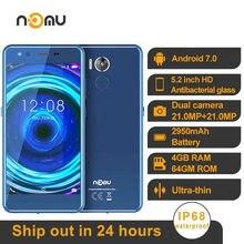 IP68 wodoodporna NOMU M8 4G Smartphone 4GB + 64GB 5.2