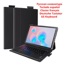 US/RU/SPA/GER/FR Keyboard Case For Samsung Galaxy Tab S6 10.5 Inch 2019 T860 T865 Case Flip Stand Bluetooth Keyboard Tablet Case(China)