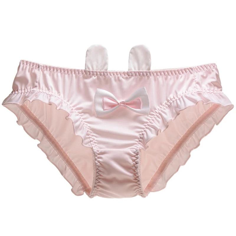 Japanese Cute Lolita Girls Bow Panties Lace Underpant Briefs Low Waist Underwear