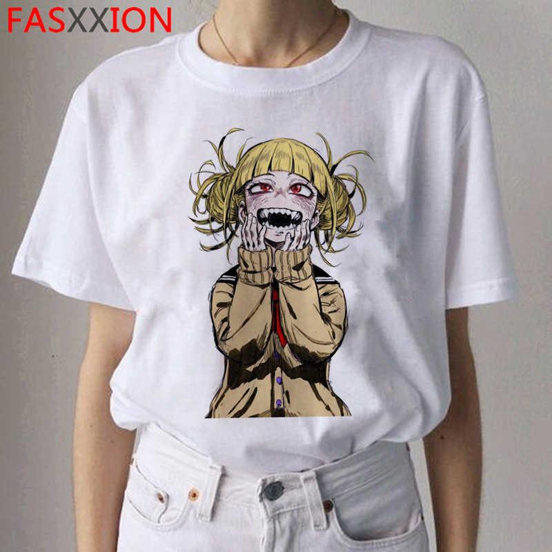 Senpai Ahegao Harajuku T-shirt Vrouwen Ullzang Himiko Toga T-shirt Boku Geen Hero Academia Hentai Tshirt 90 S Grafische Top tees Vrouwelijke