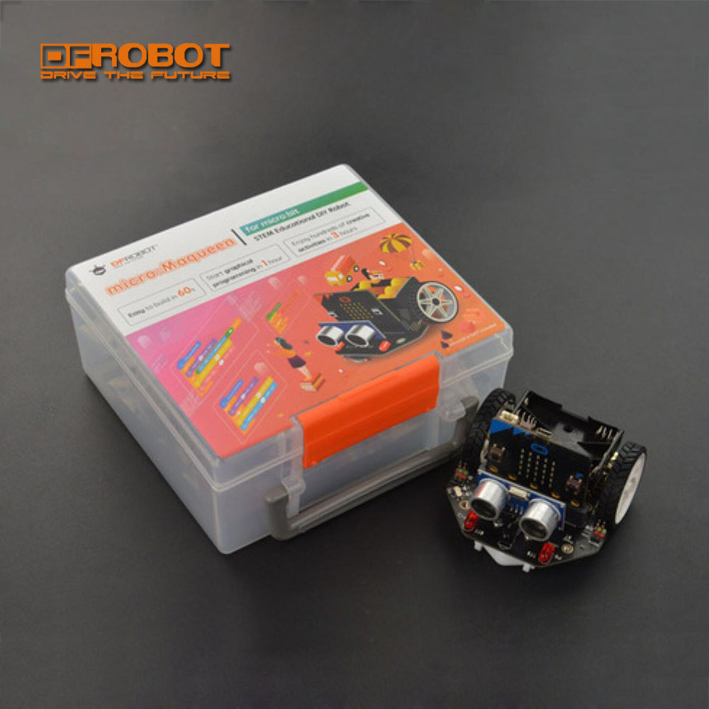 DFRobot Micro: Maqueen Micro:bit Graphical Programming Robot Mobile Platform Smart Car V4.0 Support Line Patrol Ambient Light