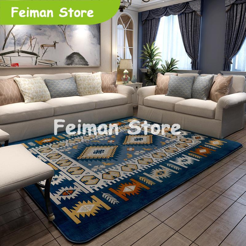 200X240CM tapis de Style méditerranéen pour salon maison chambre tapis et tapis Table basse tapis doux enfants tapis de jeu