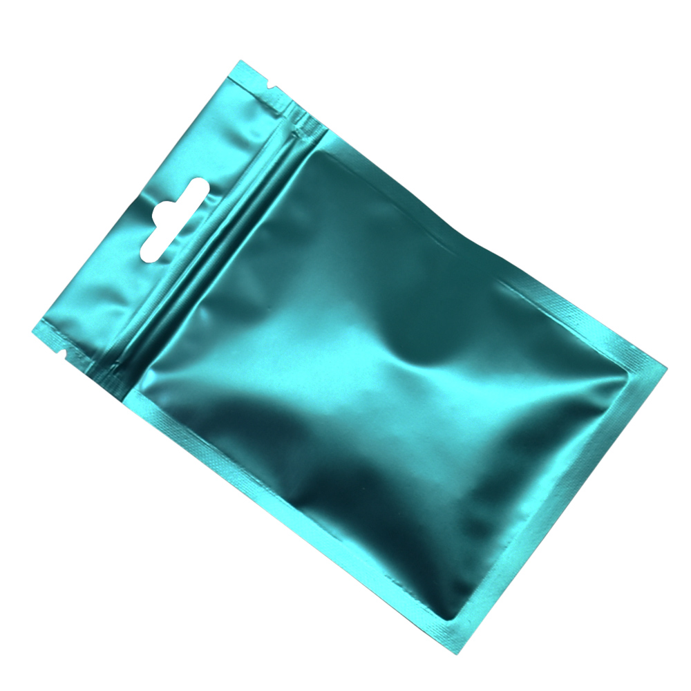 9x15cm Blue Zip Lock Aluminum Foil Food Packaging Bags Snack Pouches Frosted Mylar Flat Self Seal Ziplock Package