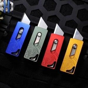 Image 1 - שני צעד נייר חותך חיצוני שדה הישרדות כלי סכין לחתוך פתוח אקספרס EDC כיס סכין