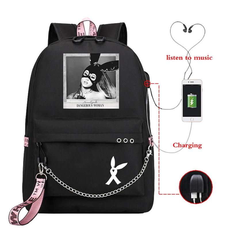 Mochila Ariana Grande Small Backpack Women Backpacks Cute School Bags For Teenage Girls Laptop Backpack Korean Travel Rucksack
