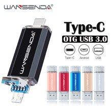 Флэш-накопитель wansenda 3,0 Usb флэш-накопитель 3 в 1 type C& Micro Usb портативный флэш-накопитель 16 ГБ 32 ГБ 64 Гб 128 ГБ 256 Гб Память переносной usb-накопитель