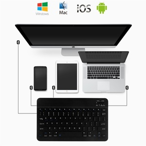 Image 3 - Ultra Slim Russian Spanish Bluetooth Keyboard For IOS Android Tablet Windows For iPad 7.9 9.7 air 10.5 Pro 11 Bluetooth Keyboard