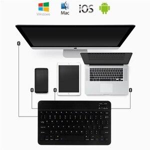 Image 3 - 超スリムアラビアロシアスペインbluetoothキーボードタブレットラップトップ、スマートフォンwindowsサポートのios androidシステム