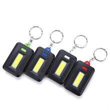 3 режима мини COB светодиодный брелок вспышка светильник брелок портативный фонарь брелок вспышка светильник Фонарь карманный светильник 3* AAA