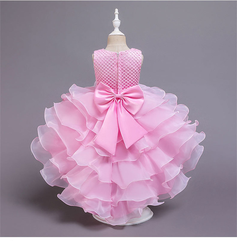 Hf1a9627c023340878b5175bf884aedd7N - Kids Princess Dresses For Girls Clothing Flower Party Girls Dress Elegant Wedding Dress For Girl Clothes 3 4 6 8 10 12 14 Years
