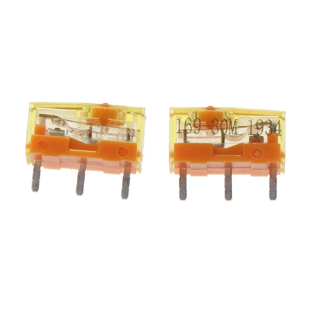 2Pc TTC Dustproof Gold Mouse Micro Switch Micro Button Gold Contactor 30 Million