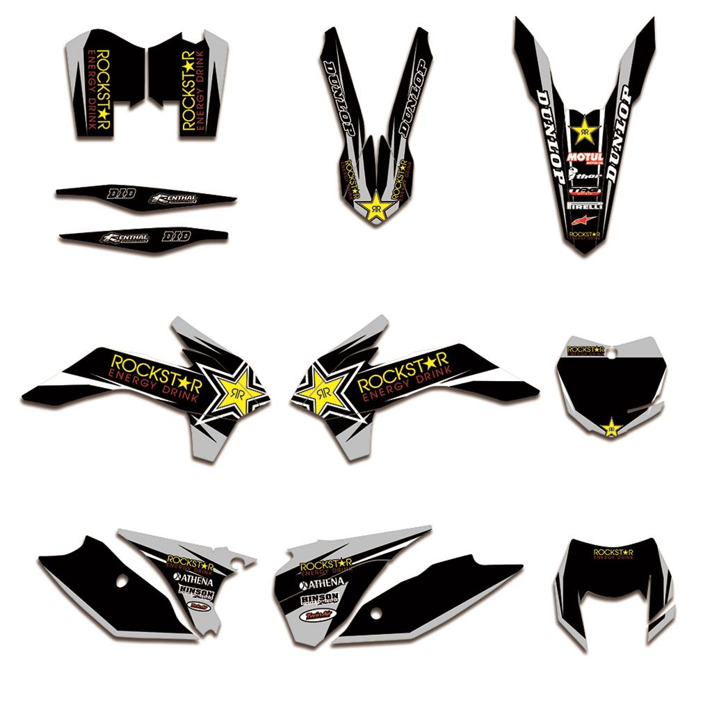 Motorcycle Team Decals Stickers Graphics DECO For KTM EXC 125 200 250 300 350 450 EXCF XCW XCFW 2014 2015 2016