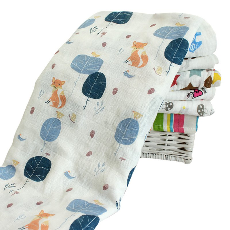 Newborn Baby Swaddling Blanket Infant Cotton Comfortable Muslin Swaddle Towel 120*120cm
