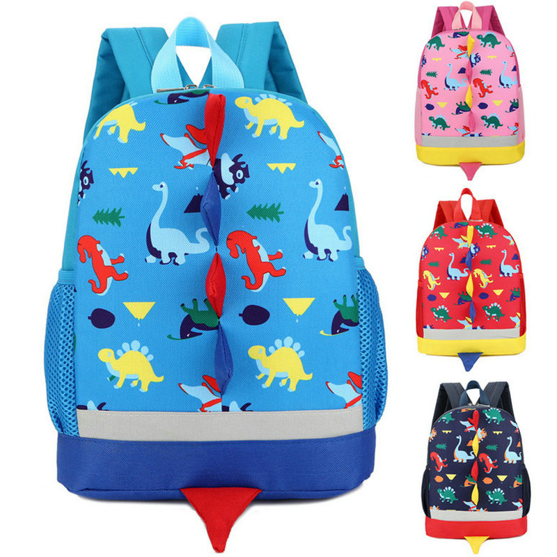 2019 New Backpack For Children Cute Comfortable Dinosaur School Bags Kids Kindergarten Preschool Backpack  3-4-6 Years Old