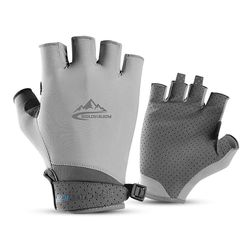 Fingerless Fishing Gloves For Men Women UV Sun Protection Non-slip Half Finger Glove For Fishing Paddling Sailing Rowing