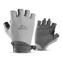 Vingerloze Vissen Handschoenen Voor Mannen Vrouwen Uv Zon Bescherming Antislip Half Vinger Handschoen Voor Vissen Peddelen Zeilen Roeien