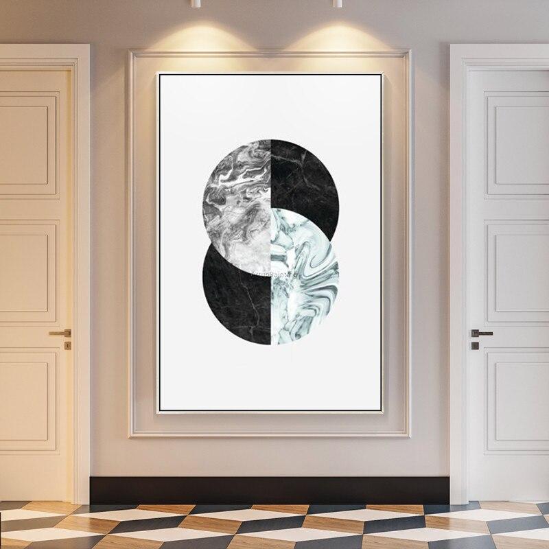 Geometrische Postmodernen ölgemälde handgemalte moderne kunst leinwand malerei für wohnzimmer wand - 2