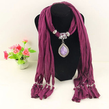 fashion scarves pendant polyester fringed autumn and winter women Yiwu wholesale