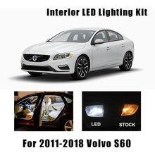 16pcs Branco Canbus LED Interior Light Reading Lâmpadas Kit Fit For Volvo S60 2011-2015 2016 2017 2018 carga Cortesia Lâmpada Licença