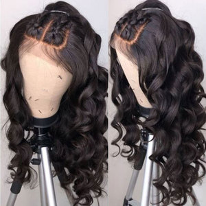 Image 3 - Alibele Brazilian Loose Wave Lace Front Human Hair Wigs 4x4 Lace Closure Wig Remy Hair Wig With Baby Hair 150 Density 13x4inch