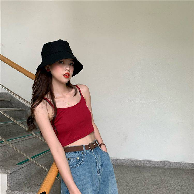 Hf1aa668022d84922a0f7939fac75b2feH - Crop Top New Fashion Women Sexy Solid Summer Camis Female Casual Tank Tops Vest Sleeveless Cool Streetwear Club High Street