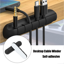Desk-Organizer Storage-Holder Cable-Clip Headphone-Wire Desktop Silicone Usb-Charger