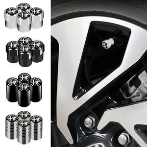 4pcs Car-Styling Alfa Romeo Emblems Wheel Tire Valve Tyre Caps For Alfa Romeo 4C 8C 156 166 159 Giulietta Spider GT Accessories