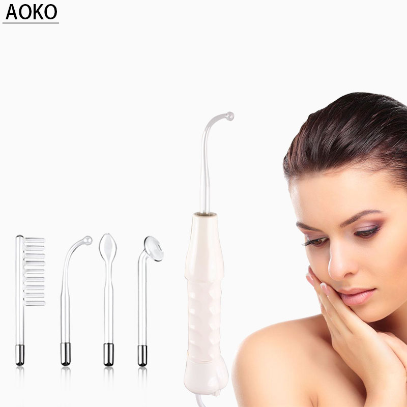 AOKO HighFrequency Electrode Glass Tube Acne Wand Skin Care Electrotherapy Facial Beauty Machine Massage Anti-Acne Anti-Wrinkles