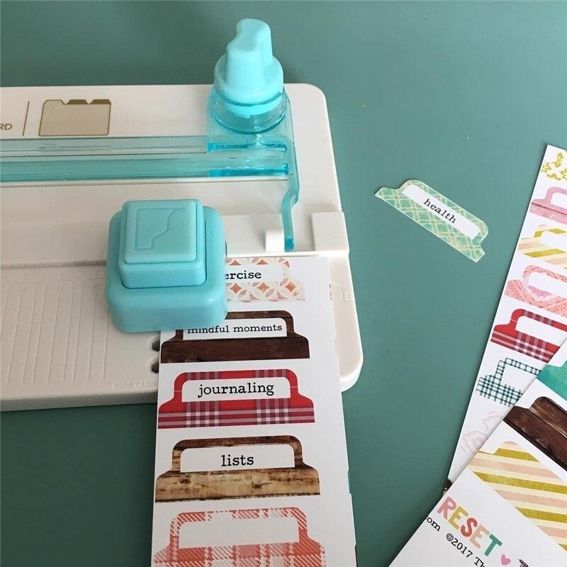 American We R Tab Push Board DIY Handbook Album Separator Page Label File Cutting Die-Cut Machines Embossers Label Crop Ruler