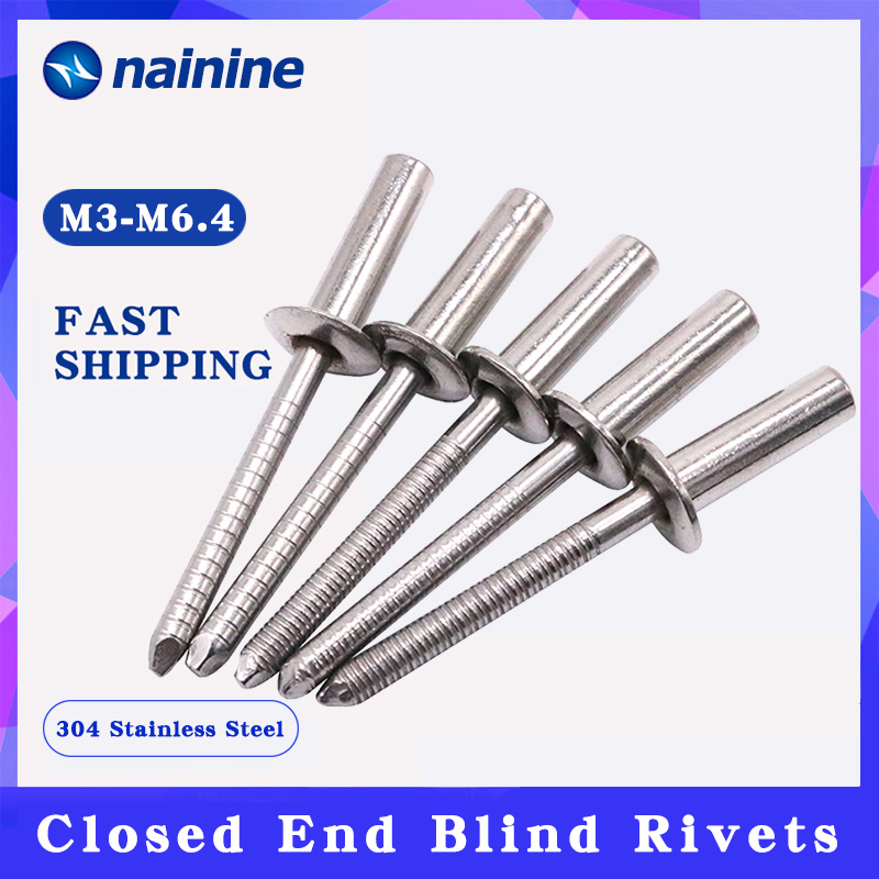 10Pcs M3.2 M4 M4.8 304 Stainless Steel Closed End Blind Rivets HW254