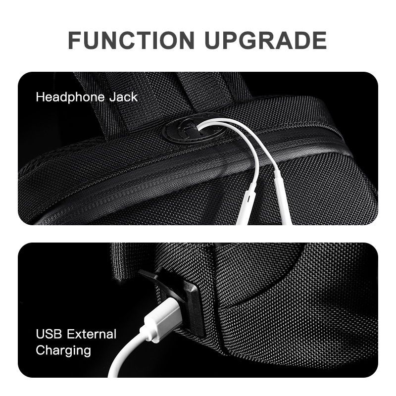 OZUKO Multifunction Men Chest Bag Anti-theft Male Sling Bags Waterproof Crossbody Messenger Bag USB Charging Outdoor Chest Pack