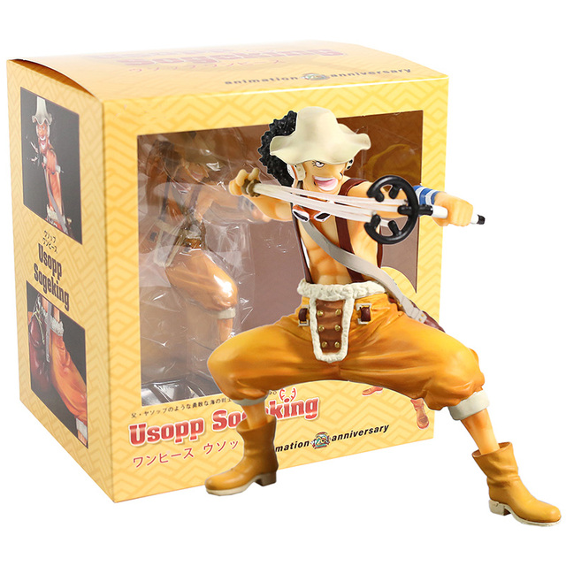 Soge King Usopp One Piece 20th Anniversary Ver PVC Figure Toy Gift Loose